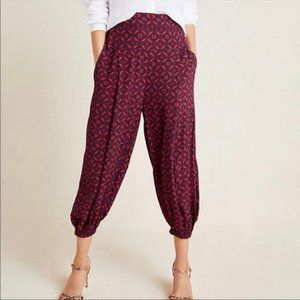 Anthropologie Printed Relaxed Fit Harem Pants LG